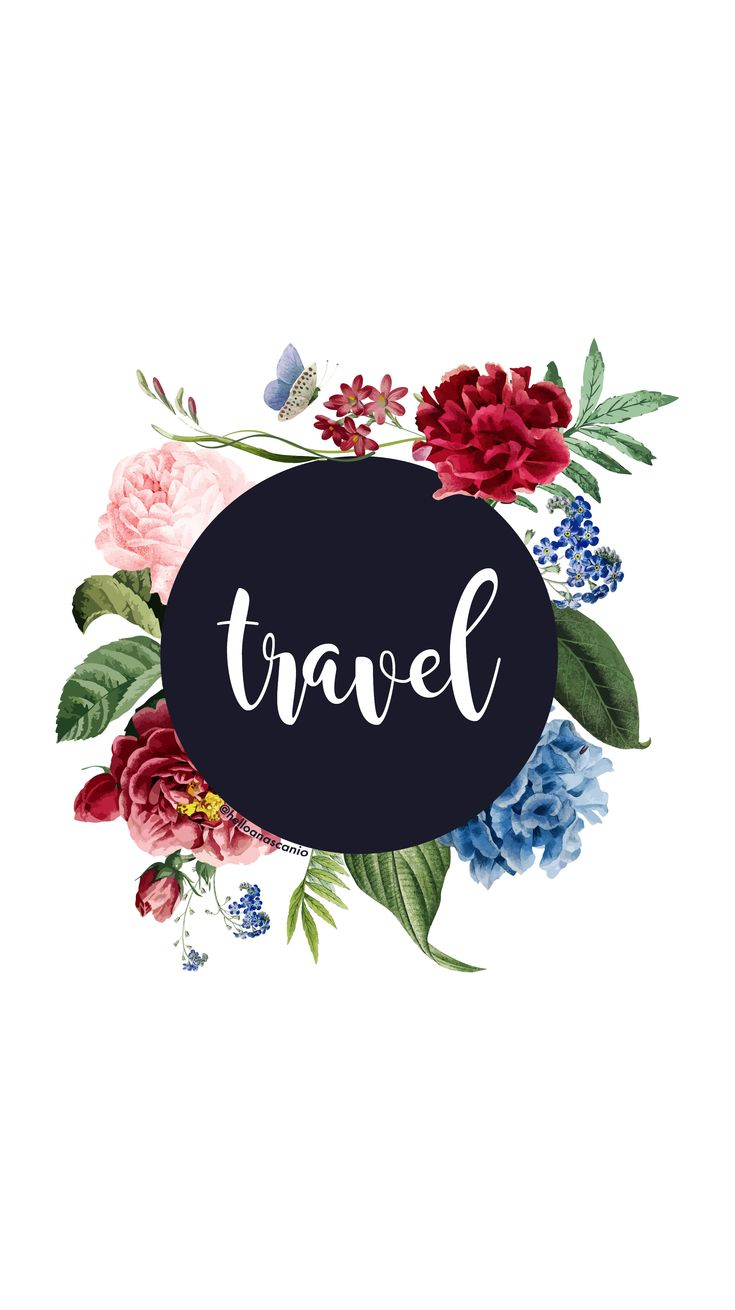 Instagram highlights templates, travel, trip, plane, flowers, watercolor, write,…