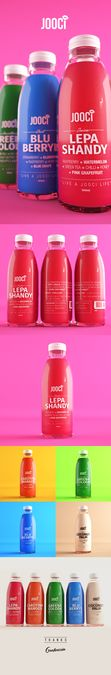 Create a Chic, Attractive and Wholesome product label for a Fresh Juice