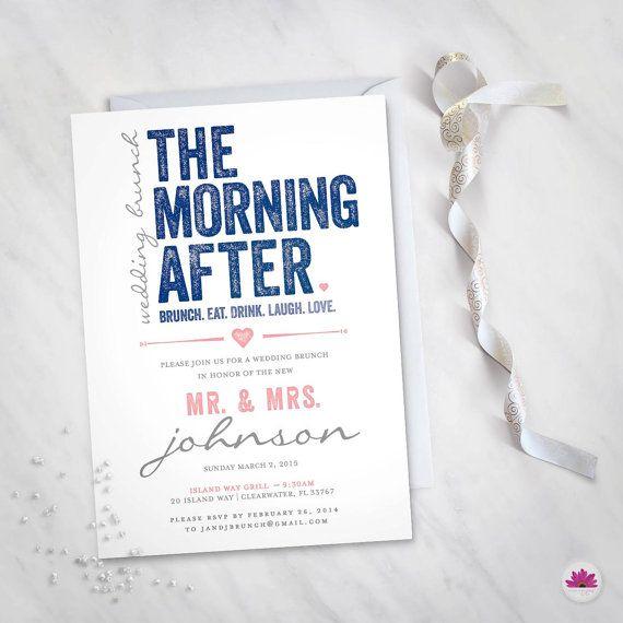 the morning after wedding brunch invitation digital file big