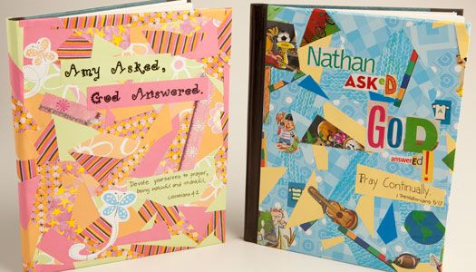 There have been some great prayer ideas posted. Here's a fun craft idea to help kids make their own prayer journal. How do you encourage your kids to develop their prayer life?