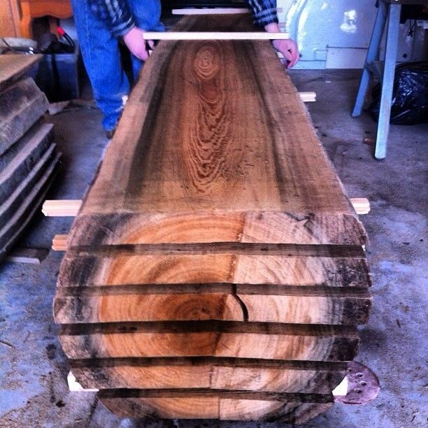 Sinker Cypress Slabs Drying Heartwood Slabs Pinterest