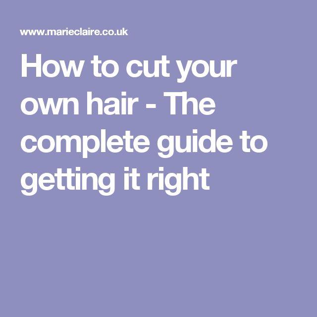 how to cut your own hair men medium
