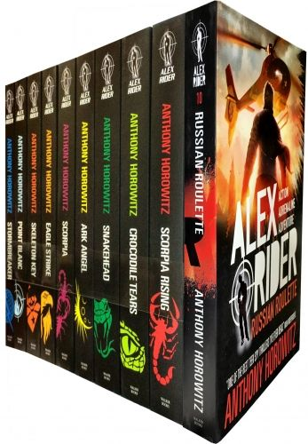 Alex Rider Collection of 10 Books Russian Roulette by Anthony Horowitz  #AlexRider #Book #BooksForTeens  http://www.snazal.com/alex-rider-collection-10-books-anthony-horowitz-set-pack-rus--DEALMAN-U5-AlexRiderRussian-10bksNEWCV.html