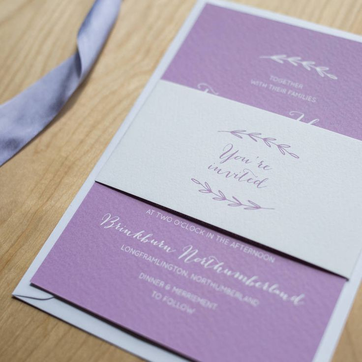 Simple Branch Wedding Invitation by Sincerely May