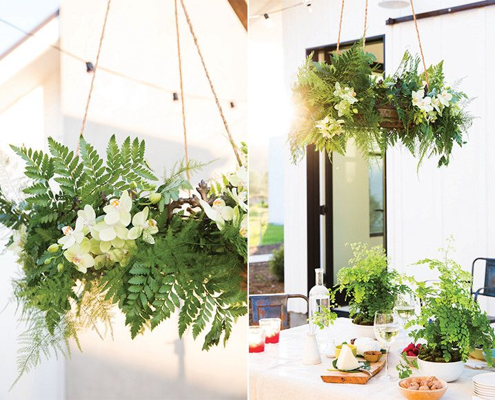 Ready for dinners and lunches outdoors this spring? This DIY fern chandelier uses plumosa and leatherleaf ferns to create a stunning centerpiece that won't takeover your table…