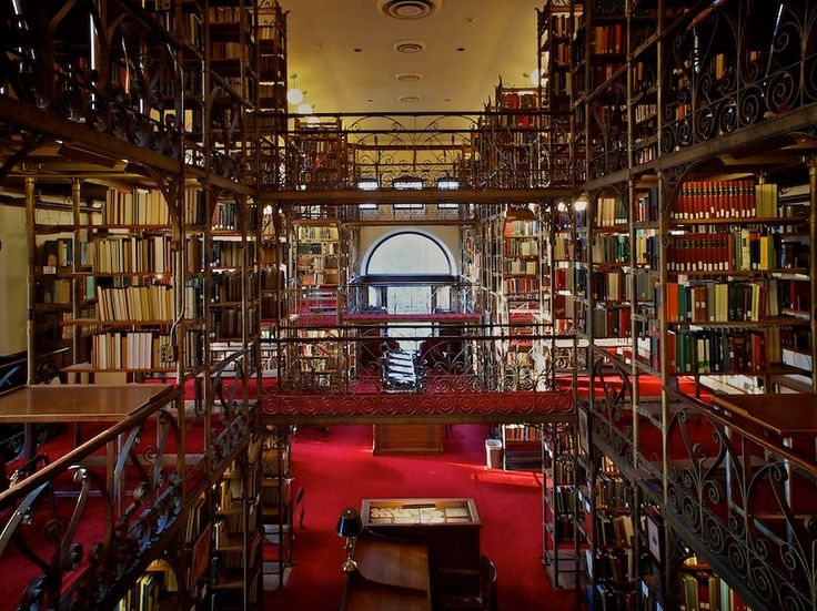 Featured in Harry Potter, this beautiful room is the Andrew D White library within the larger Uris Library complex at Cornell University.
