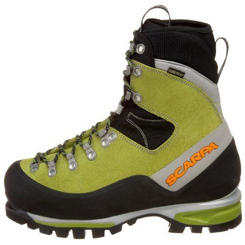 Scarpa Women's Mont Blanc GTX Mountaineering Boot  FEATURES of the Scarpa Women's Mont Blanc GTX Boot Automatic and semi-automatic crampon-compatible Insulated Comfort Gore-Tex keep your feet warm and dry ErgoFit System provides omni-directional ankle flex allowing for natural motion with perfect support Rear randing locks heel safely for climbing up efficiency Advanced Midsole System provides maximum shock absorption, enhanced level of sensitivity Lightest in its class  When mountaineering…