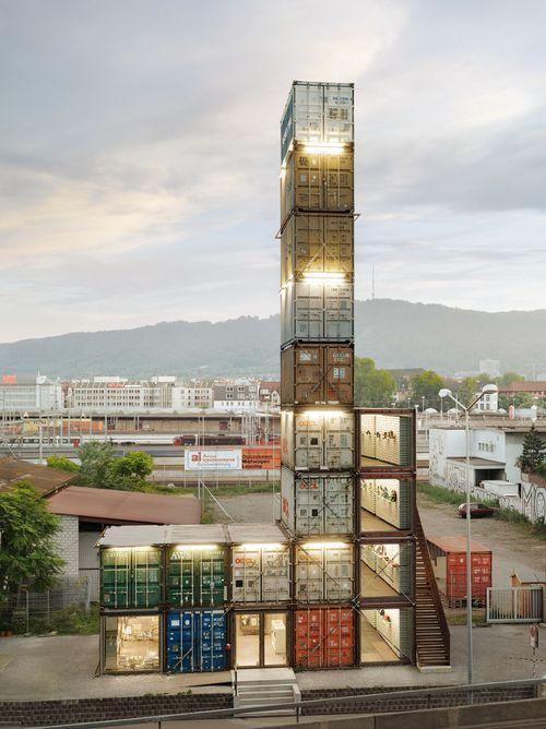 Freitag Tower, Zurich.  - Corpus / Art of Failure