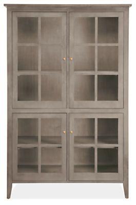 Adams Glass Door Cabinets Modern Dining Room