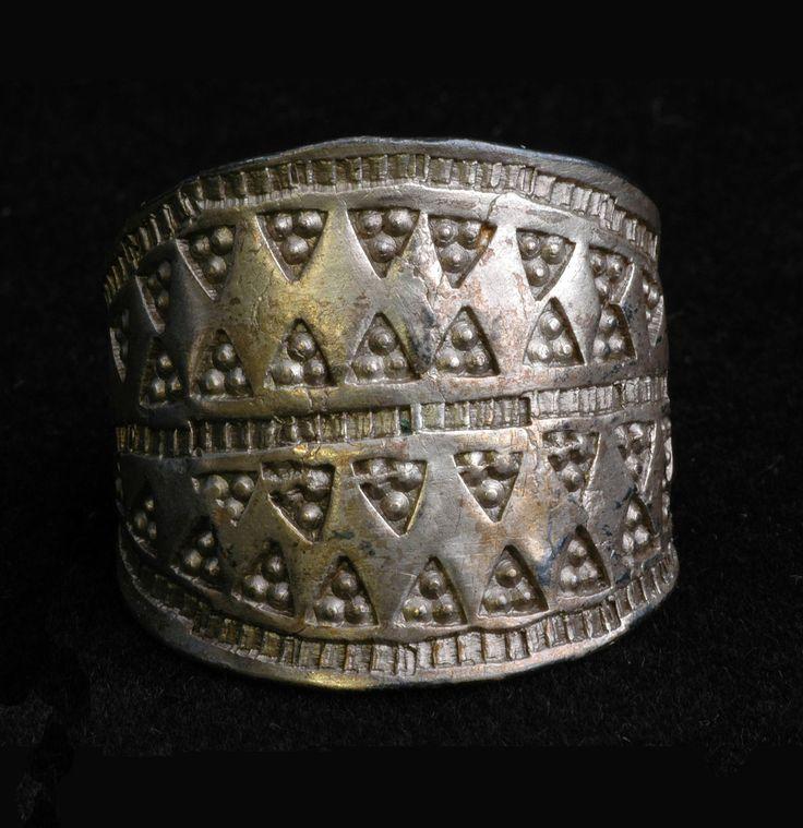 Viking fingerring in silver, island of Gotland, Sweden.