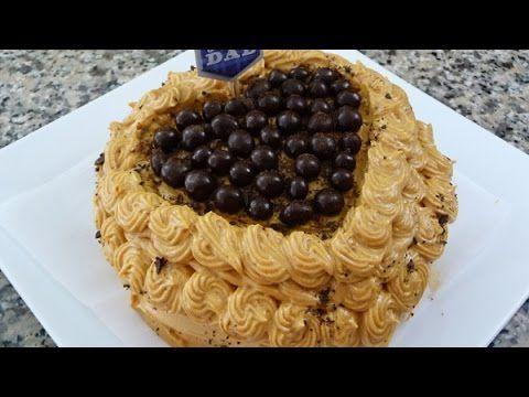 Pastel de Cafe con betun de Cajeta, receta facil para el dia del Padre.