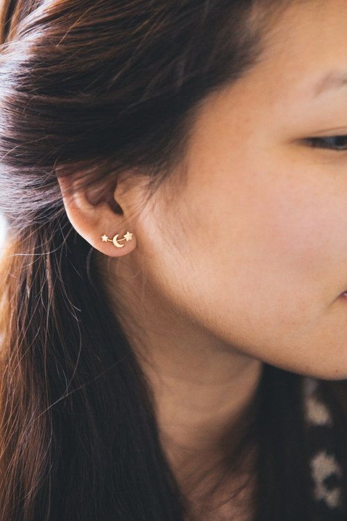 Moon and Stars Earring