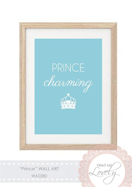 """Prince"" Wall Print A4 Cardstock | Print Me Lovely | madeit.com.au"