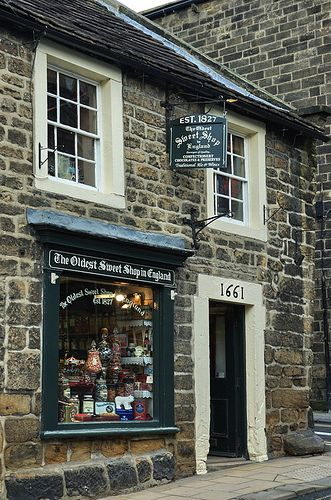 The Oldest Sweet Shop in England  (Est. 1827!)  Pateley Bridge, North Yorkshire(Sweets = Candy)