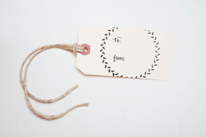printed gift tags from yours is the earth