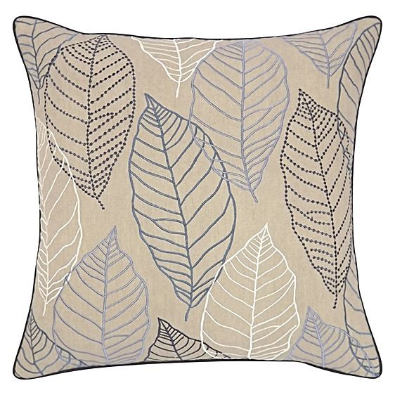 Autumnal designs and delicate stitching make the Loose Leaves Cushion from DG37 a cosy accent for your décor.