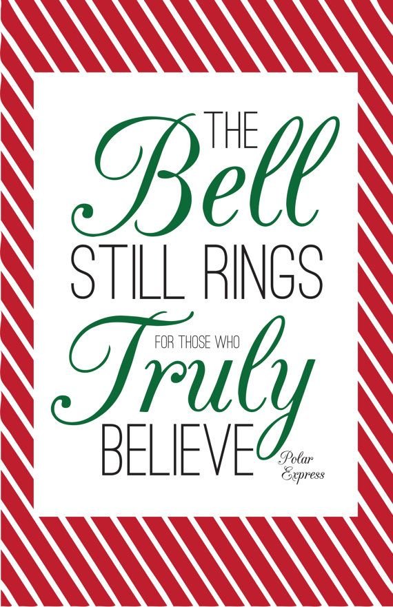 Polar Express Quote 11 x 17 Poster