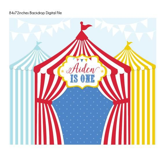 circus backdrop carnival Vintage Circus party sign circus sign Digital file only first birthday sign banner circus circus birthday
