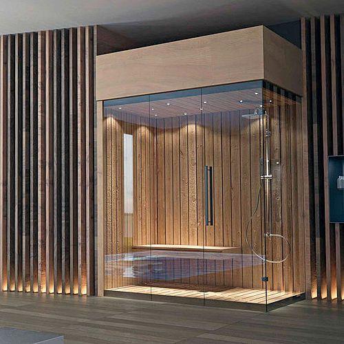 Nos saunas sont faits d'excellents bois et matériaux de qualité, afin de garantir un résultat qui vous maintiendra satisfait à long terme. Tous nos saunas sont accomplis le bronze, smoked ou les portes en cristal gâchées transparentes, fourneaux d'acier inoxydable,...