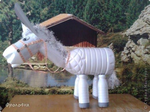 : Burro hecho de botellas de plástico. (Pet) | Manualidades de