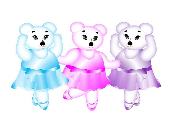 Nursery & Childs Room Wall Art depicting dancing ballerina bears in their girly teal, pink and purple dance outfits. Choose your print size in the drop down box above.  An original art piece created by me, this giclee art print is printed upon high quality archival paper utilizing archival pigment inks rated to last 120 years. It is a borderless print that does NOT INCLUDE matting or frame so that you can place it into the matting and frame of your hearts desire.  Choose ONE of the views...