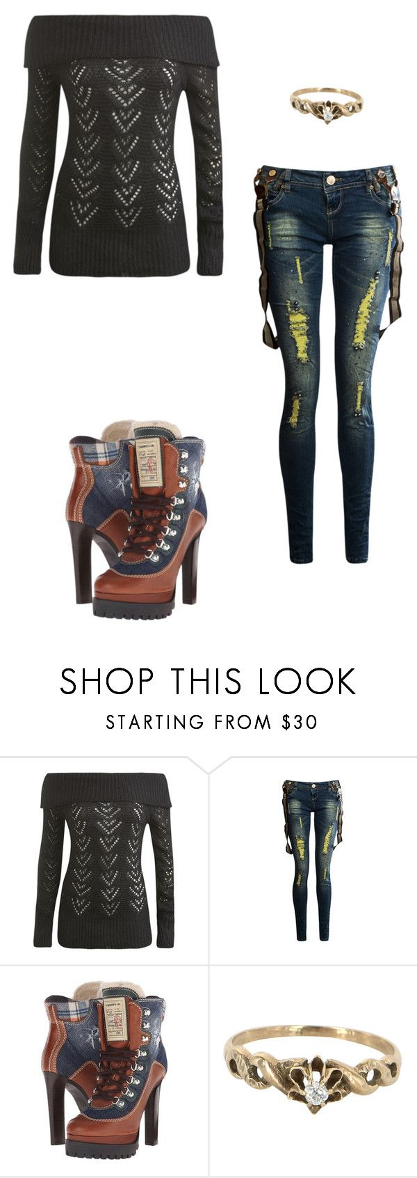 """Untitled #887"" by mvlopez on Polyvore featuring Wet Seal, Dsquared2 and Vintage"