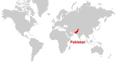 Pakistan Map and Satellite Image of where Pakistan is on this amp it is in red