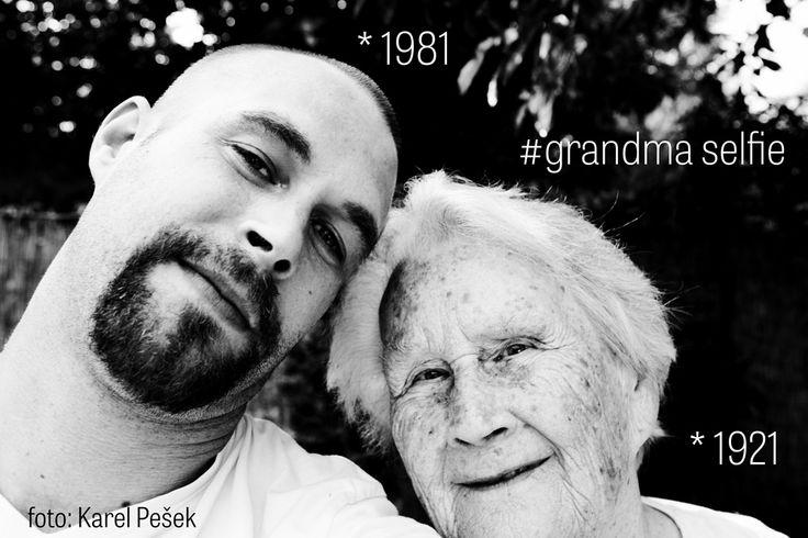 selfie with grandma