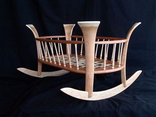 Turned Baby Cradle Tutorial Crib Plans Cradle Plans Pinterest