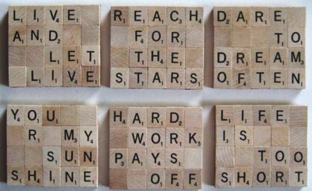 Scrabble Tile Coasters-Your Scrabble tiles can still be put to good use thanks to the idea of having tiles stick together on a corkboard to form a coaster that would be great for different kinds of drinks. It is actually so easy to make that even kids can do it.
