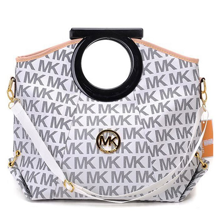 MICHAEL KORS : Michael Kors Berkley Logo Large Vanilla Clutches