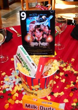 This site has various movie-themed centrepieces