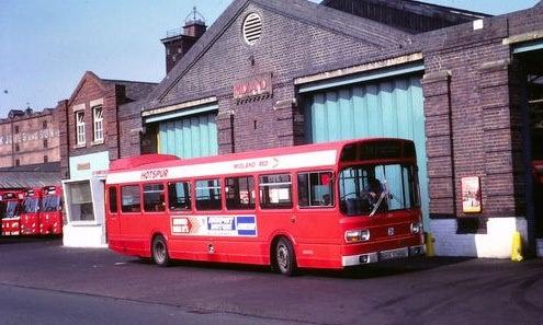 Recently demolished Midland Red bus depot.  Shrewsbury, Shropshire