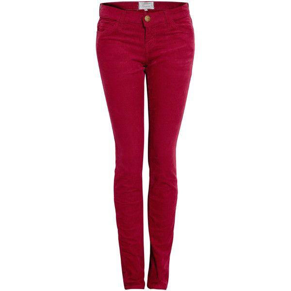 CURRENT/ELLIOTT Vintage Crimson Skinny Cord Jean ($302) ❤ liked on Polyvore