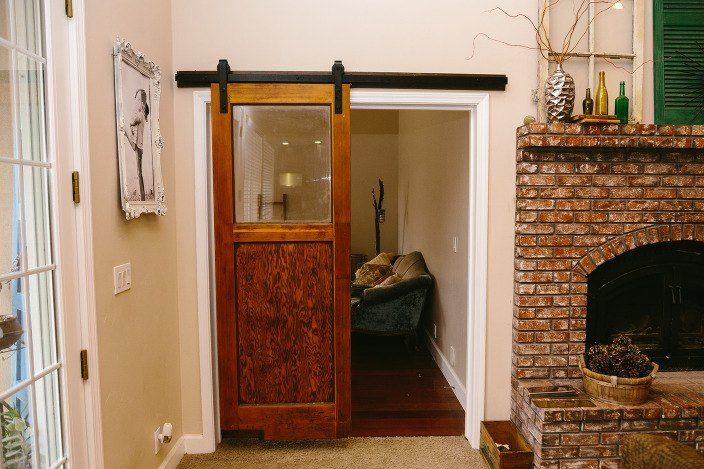This is the trendiest door idea  - and it's so easy to do!