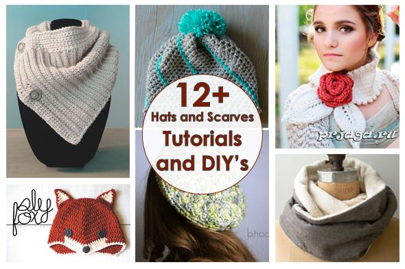 Рукодельный обзор: Шапки и шарфики / New Tutorials and DIY's to Try: Hats and Scarves