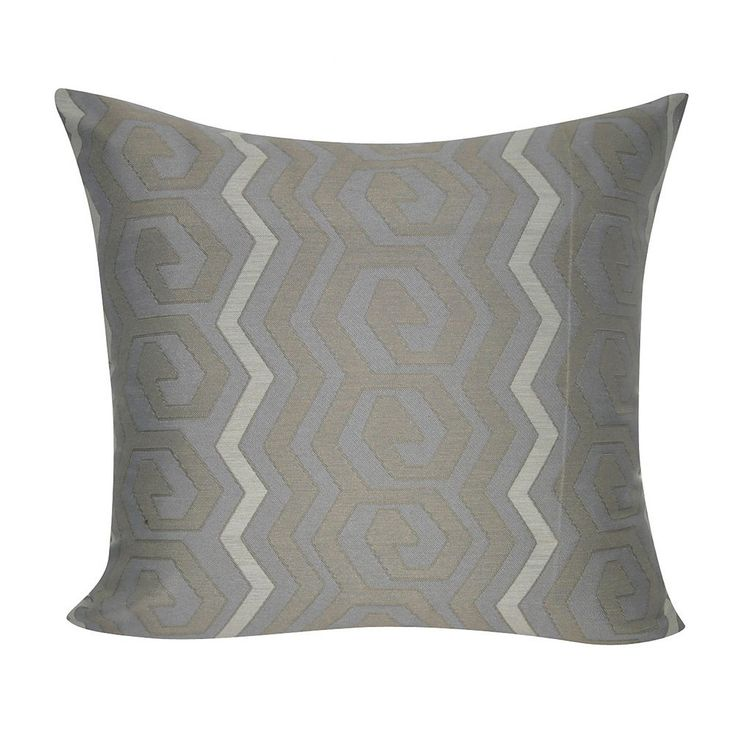 Loom and Mill Bold Geometric Throw Pillow, Grey