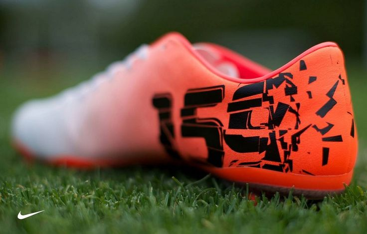 The cleats that Abby wore during the game last night. They won 7-0!!