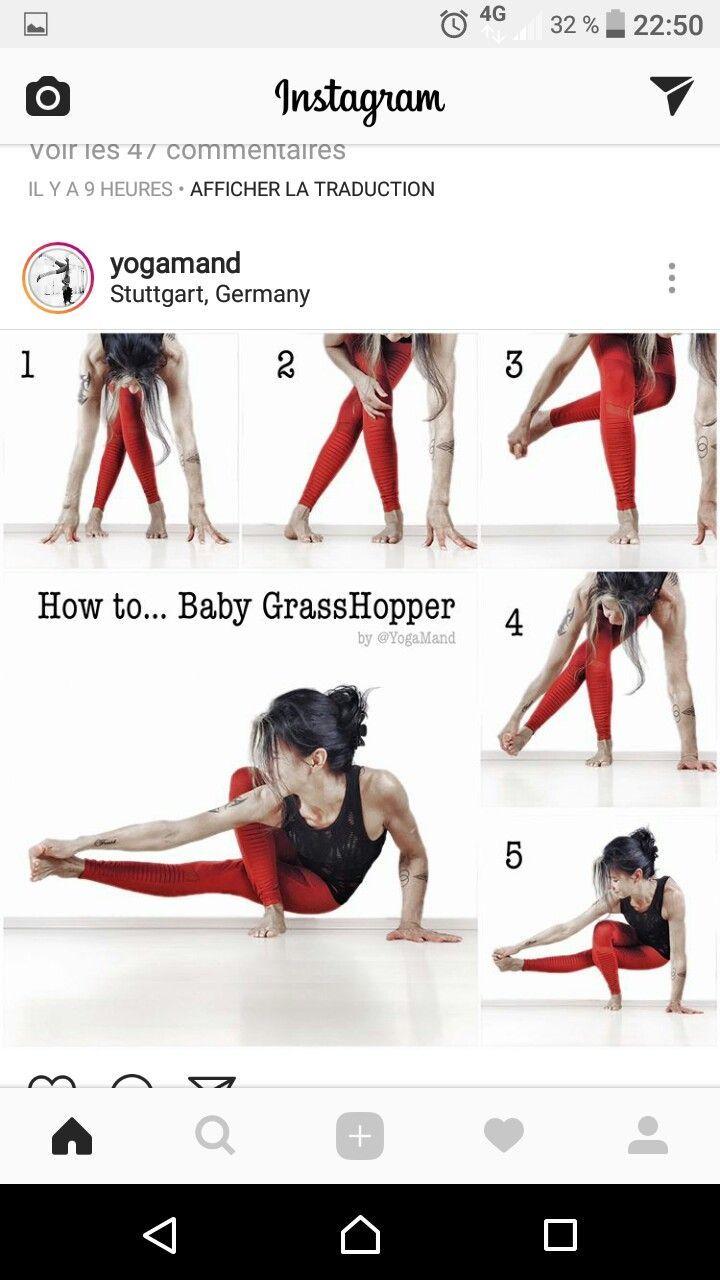 Baby Grasshopper Yoga Pose - #Baby #Grasshopper #pose #Yoga
