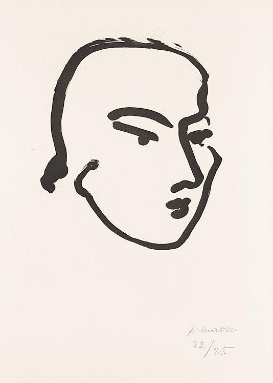 Matisse Contour Line Drawing : Nadia by matisse illustration pinterest
