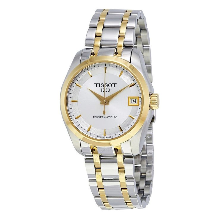 Tissot Couturier Powermatic 80 Silver Dial Two Tone Ladies Watch T035.207.22.031.00 - Couturier - T-Classic - Tissot - Watches - Jomashop