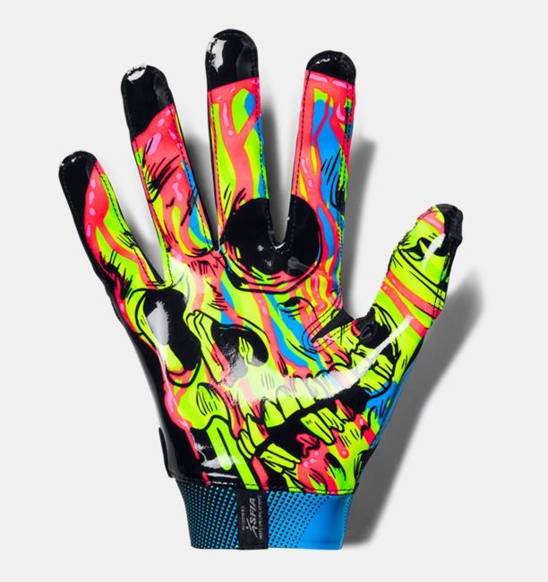 Men S Ua Spotlight Le Nfl Football Gloves In 2020 Nfl Football Gloves Football Gloves Cool Football Gloves