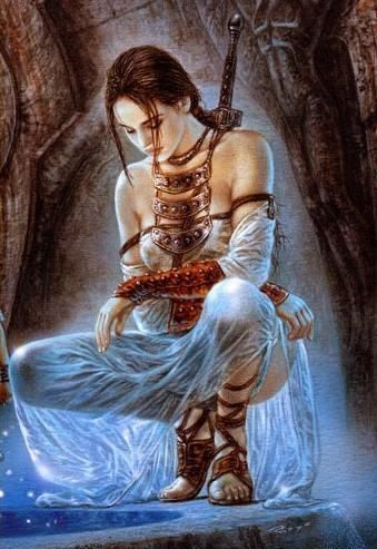 Wayfarer's Redemption by Luis Royo  I have no idea why she bothered putting on that dress.