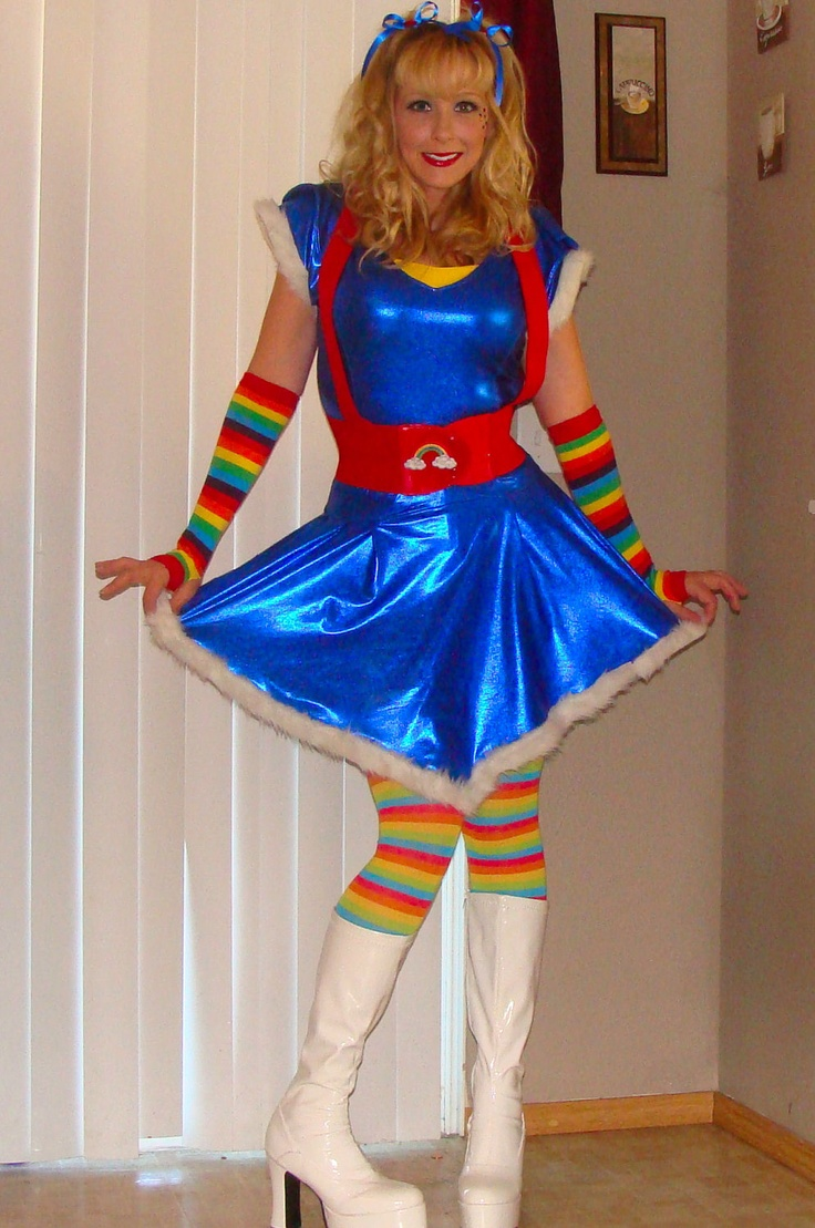Adult rainbow brite halloween costume has