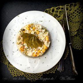 Hier wird mit Liebe gekocht: Salat mit Reis und Krabbenstäbchen
