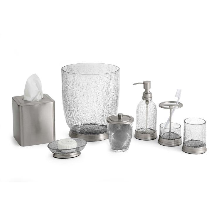 crystal bathroom accessories sets%0A Heirloom Crackle  Piece Bathroom Accessory Set