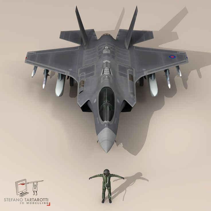F 35 A Royal Air Force 3D Model- NOTE: the pilot character is not rigged -no bones-  External pylons and weapons could be removed.  Made in cinema4d R12. .fbx format is good for importing in 3dstudio max and Maya.   - F35A: Polygons 30501 Vertices 31998  - Pilot character: Polygons 5012 Vertices 5105  This model is only artistic representation of the subject matter. I made it for a flight magazine illustration. If you like the model please rate it.    The F-35A is the conventional takeoff…