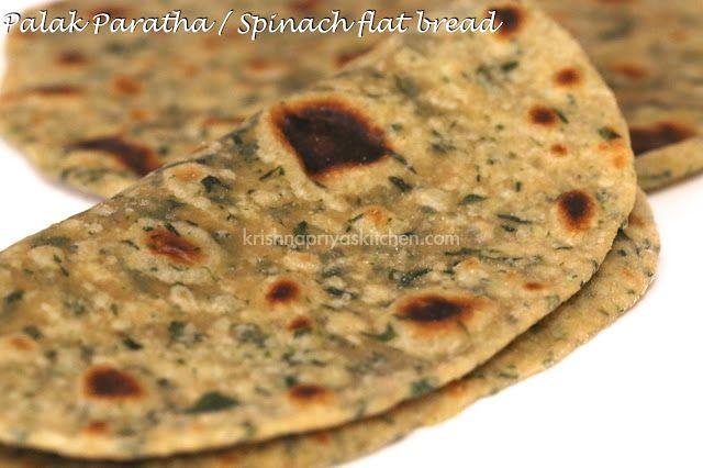 Palak paratha / Spinach Flat bread
