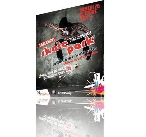 Affiche // Inauguration skatepark
