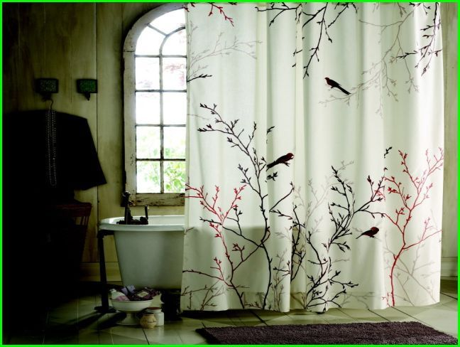 Vintage Bird Shower Curtain Shower Curtain Ideas